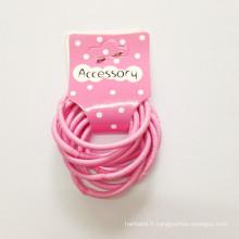 10PCS / Card Ealstic Hairbands pour enfant