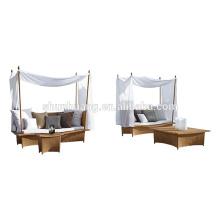 new design garden rattan furniture hand woven wicker lounge chaise