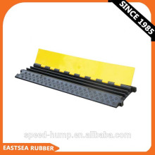 Black and Yellow Small Type 3-Channel Rubber Underground Cable Cover