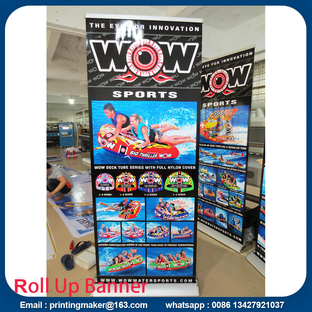 5 kg roll up stand with banner