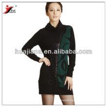 turtleneck women's cashmere knitting dresses