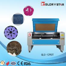 Machine de gravure et de gravure laser CO2 pour cuir, PU pour faire des chaussures