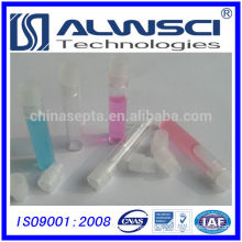 1mL Clear Glass Shell Vial with Clear Polyethylene Snap Plug