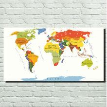 Stretcher Lona Enmarcada Impresiones De Mapa