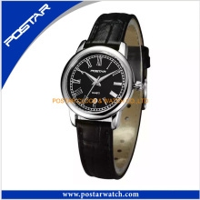 Simple Swiss Watch for Ladies with Genuine Leather Band