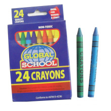 24pcs wax crayon kids painting used paraffin pigment colored crayon