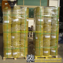 Malla de alambre de pollo con malla hexagonal recubierta de PVC