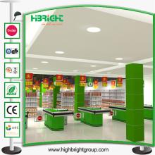 Equipo eléctrico del supermercado de la comprobación del pago y envío