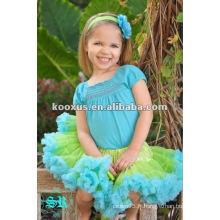 Mode ! Charmante fille à volants en dentelle colorée Pettiskirt
