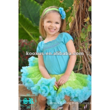Fashion ! Lovely colorful Lace Ruffle Girl Pettiskirt