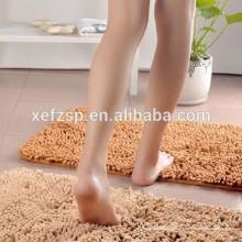 100% poliéster lavável tapete do banheiro telhas