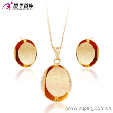 63632 china fashion gold plated jewelry wholesale good looking elegant 18k gold plated jewelry