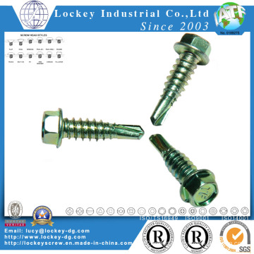 Hex Tek Screw Color Zinc Plated