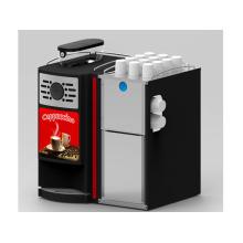 Uso comercial Gaia E2s con frijol de leche fresca para hacer una taza de café