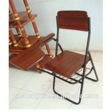 Cadeira de dobrar de estudante de alta qualidade Cadeira de escritório de madeira de melhor preço Cadeira de escrita quente