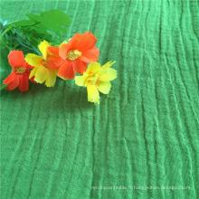 Crinkle 55% Linge de lit 45% Tissu en coton / Tissu mélangé de coton et de crêpe
