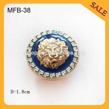 MFB38 Botones de botón de metal botón directa Botones de accesorios de ropa de China 1.8cm