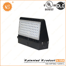 5 ans de garantie 100lm / W LED 120W Wall Pack Light