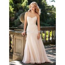 NA1010 Русалка милая Sweep поезд аппликация из органзы свадебное платье 2015