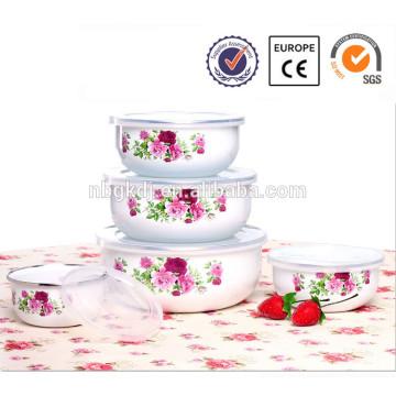5 pcs enamel hookah bowl with PE lid