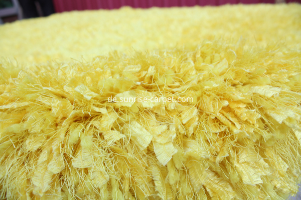 Silk Feather Elastic Yarn Mix Shaggy Rug