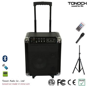 Fábrica de fornecimento de plástico PA sistema Portable Active Speaker