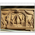 Holzrelief-Skulptur und 3D-Graviermaschine