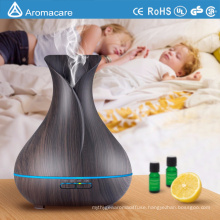 Aromacare 400ml Free Sample Ultrasonic Wood Grain Humidifier and Oil diffuser
