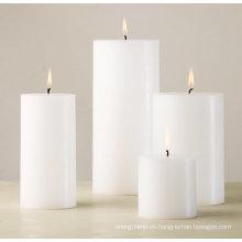 La boda favorece la fragancia vela perfumada del pilar.