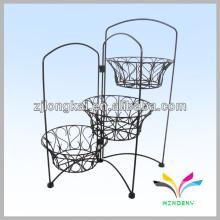 China Fertigung Qualität Metall 3 Tier Blume Topf Stand