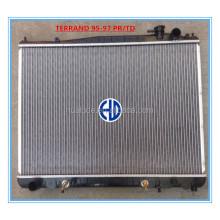 high quality aluminum car radiator for TERRANO PR50 TD27