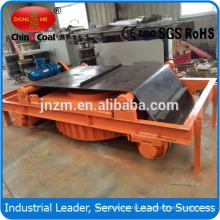 Separador magnético para correia transportadora RCDD para processamento de mineração de minério de ferro em autolimpante
