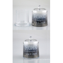 Transparent Glass Candle Holder with a Lid