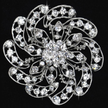 Vintage Silver/gold accessories corsage crystal brooch pin fashion rhinestone Flower brooches for wedding