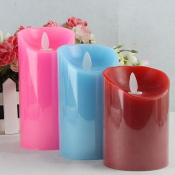 luminara battery operated moving wick flameless candles with timer