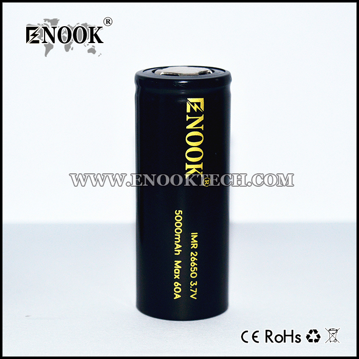2017 Newest  ENOOK 26650 5000mAh Battery