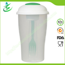 800ml Wholesale Salad Cup with Fork and Small Container