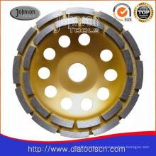 Od150mm Diamond Cup Wheel with Double Row