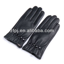Neu warme Knöpfe Stil Handschuhe schwarz Leder Ottomane