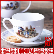 200ml cartoon design capuccino cup saucer