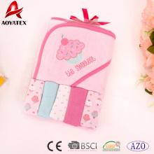 promoção Novo design com capuz toalha de banho do bebê com capuz animal