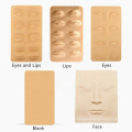 Soft 3D Silicone Sheets Lip Eyes Eyebrow Makeup Cosmetic Tattoo Practice Skin for Permanent Makeup Tattoo Training