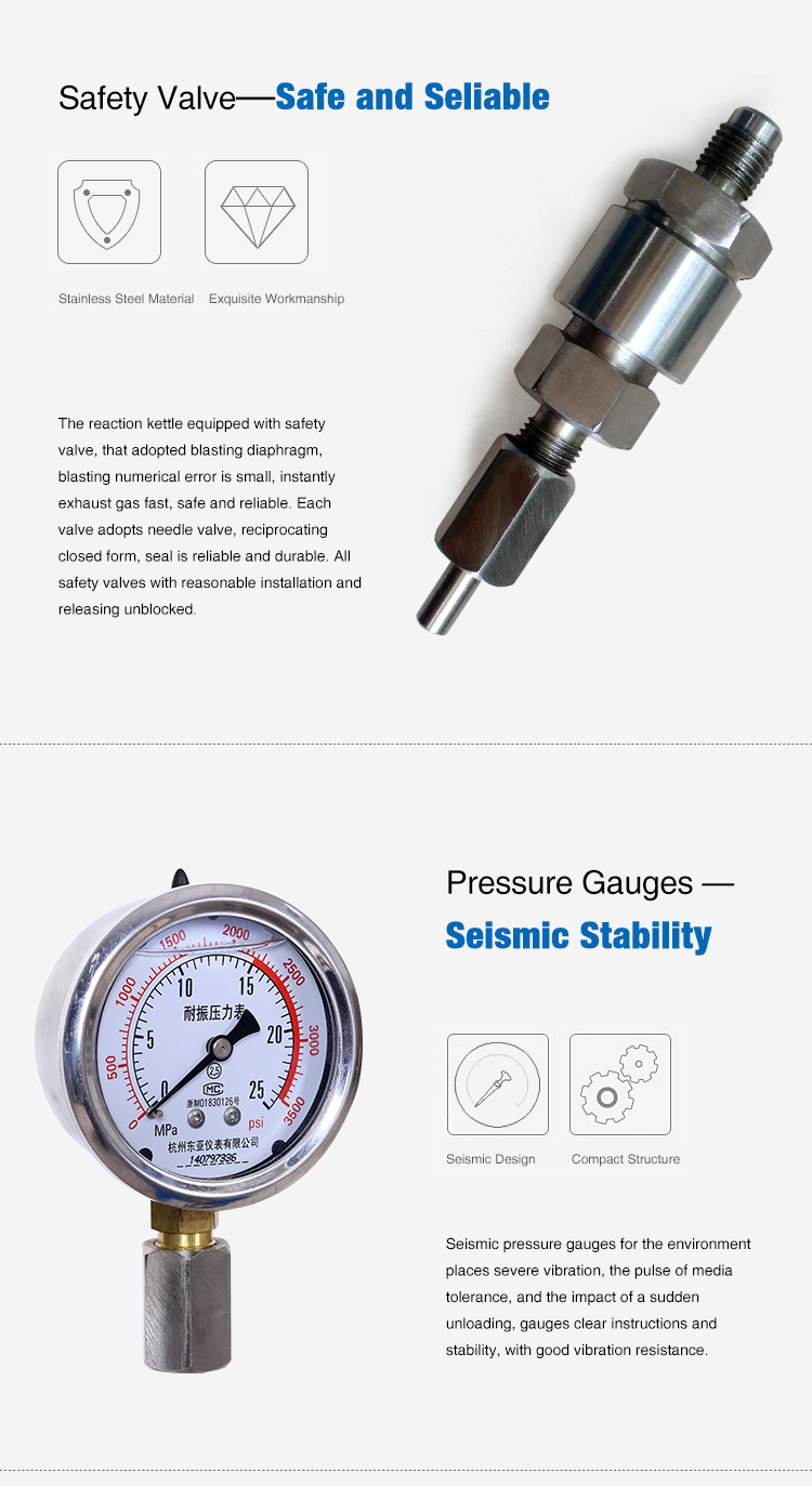 Small Scale High Pressure Reactor Autoclave