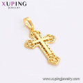 33733 xuping jewelry 2018 design hollow out cross religious pendant