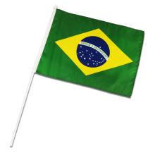 Bannière de table de drapeau de main du Brésil personnalisée pour la promotion