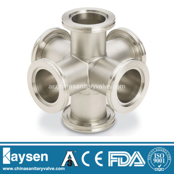 ISO-K (LF) 6Way Cross Stainless Steel
