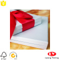 Elegant Design White Gift Boxes with Ribbon