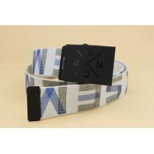 Printing square buckle webbing belts body belt for mens