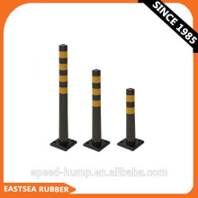 Polyurethane Plastic Road Warning Flexible City Delineator Bollard [Square Base]Express Alibaba
