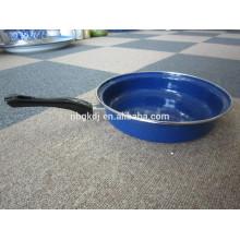 blue enamel fry pan